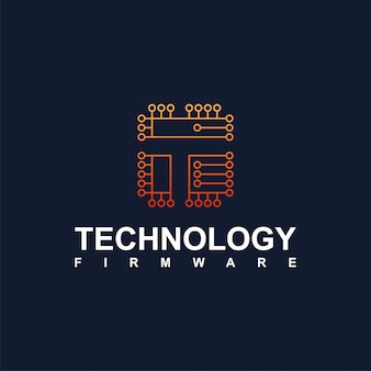 Circuit logo for technology and the internet