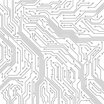 回路のシームレスなパターン。コンピュータのマザーボード、マイクロチップ電子技術。