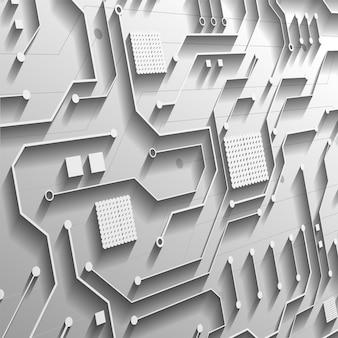 하이테크 디지털 데이터 연결 시스템 및 컴퓨터 전자 설계를 사용한 회로 기술 배경