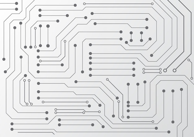 ハイテクデジタルデータ接続システムとコンピューターの電子設計による回路技術の背景