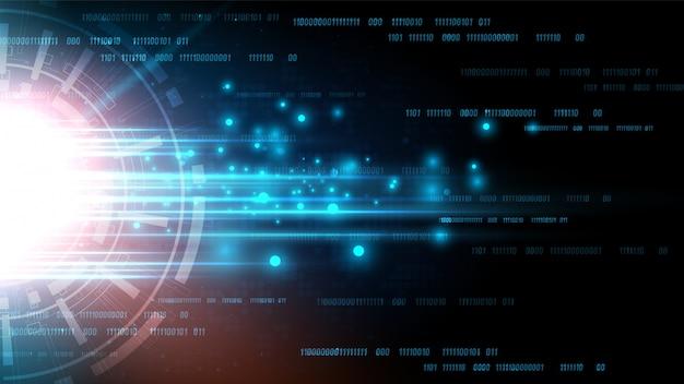 Схема технологии фон с высокотехнологичной цифровой системой передачи данных и компьютерной электроникой