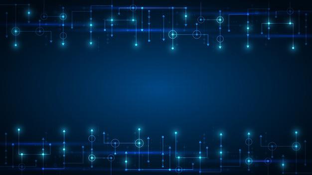 ハイテクデジタルデータ接続システムとコンピューター電子回路技術の背景