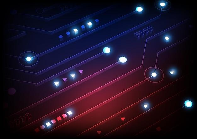 첨단 디지털 데이터 연결 시스템 및 전자 설계를 통한 회로 기술 배경