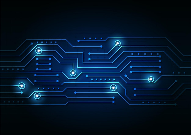 Circuit technology background with hi-tech digital data connection system and computer electronic design