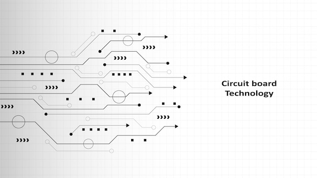 Circuit technology background with hi-tech digital data connection system and computer electronic