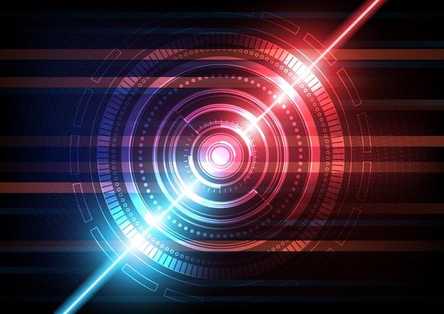 Фон технологии цепи с высокотехнологичной иллюстрацией системы цифровой передачи данных