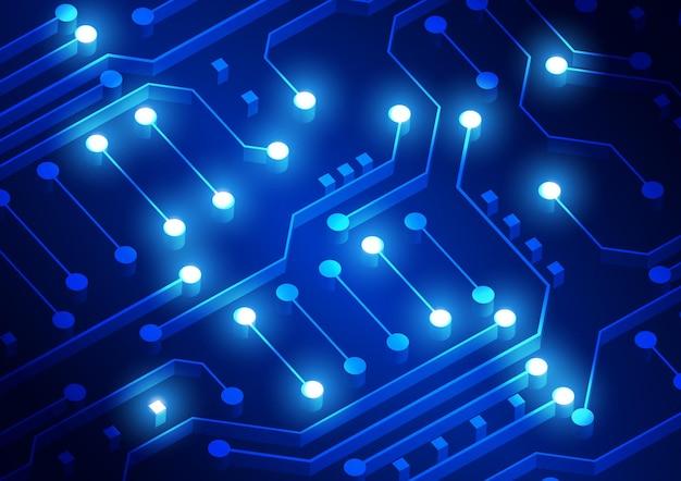 ハイテクデジタルデータ接続システムによる回路技術の背景