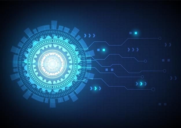 ハイテクデジタルデータと回路技術の背景