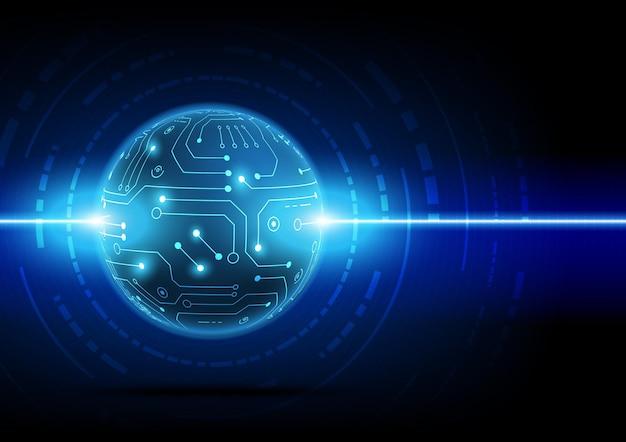 Фон технологии цепи с высокотехнологичным цифровым