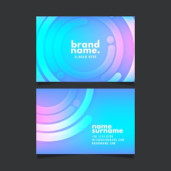 Circular abstract business card template