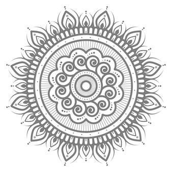 Circular and abstract mandala illustration abstract and decorative concept