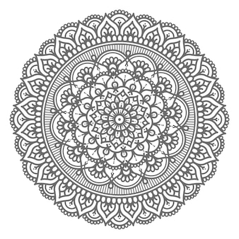 Circular and abstract mandala illustration decorative concept
