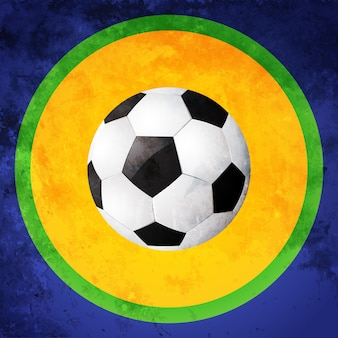 カラフルな抽象的なサッカーデザインのイラスト