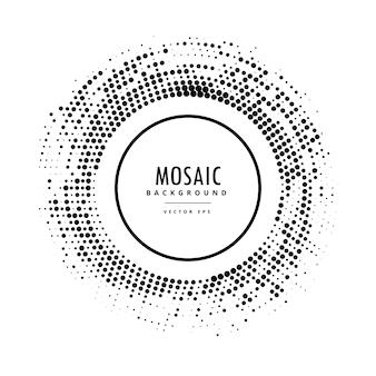 Circular background, halftone dots