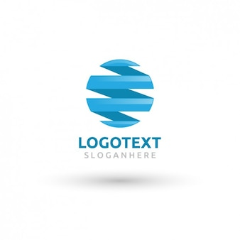 Circolare blu logo