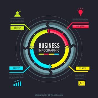 Circular business infographic