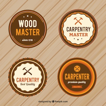 Circular carpentry badges