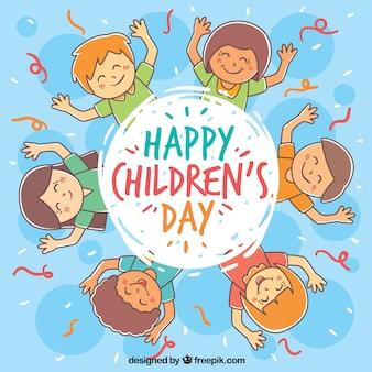 Circular childrens day design