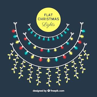 Collezione di luci natalizie circolari