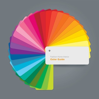 Circular color palette guide for fashion interior designer