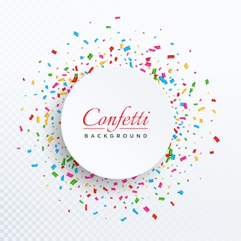 circular confetti background