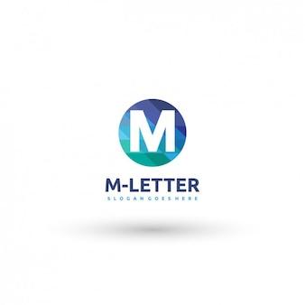 Круговая em письмо шаблон логотипа