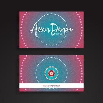 Circular ethnic business card