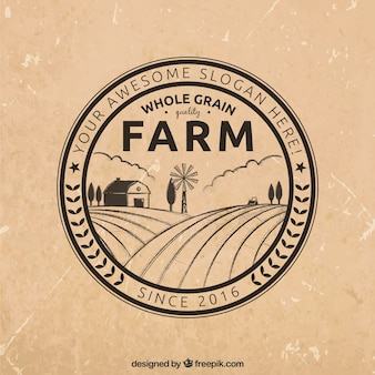 Circular farm logotype