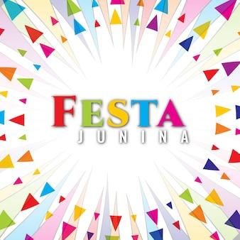 Circular festa junina design