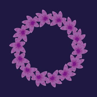 Circular floral decoration