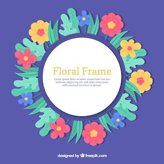 円形の花のフレームデザイン