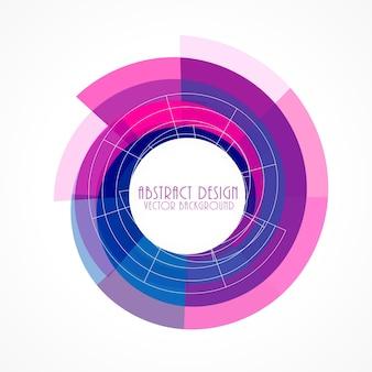 ピンクと青の抽象的なフレームの背景