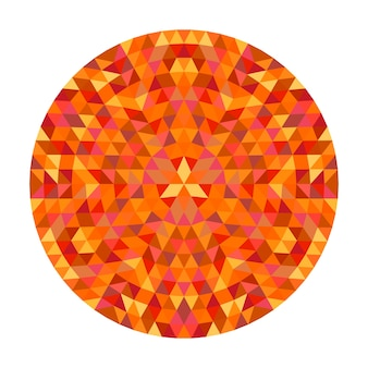 Circular geometrical triangle mandala design - symmetric vector pattern art from color triangles
