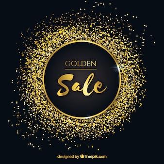 Circular golden sale background
