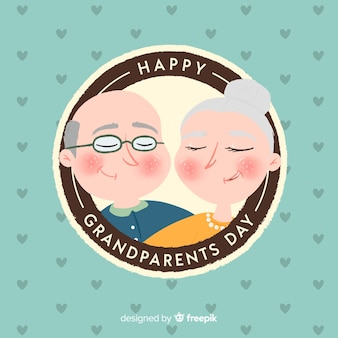 Circular grandparents day background