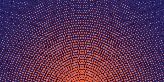 Circular halftone background