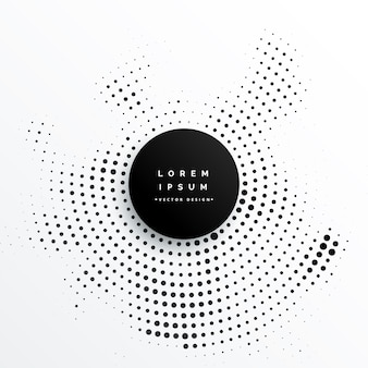 Circular halftone dots background design