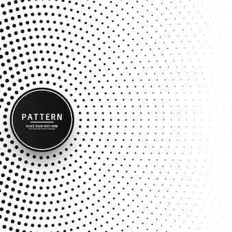 Circular halftone pattern