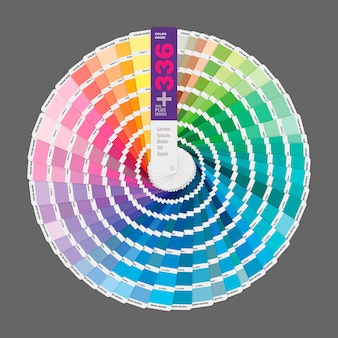 Circular illustration of color palette guide for print