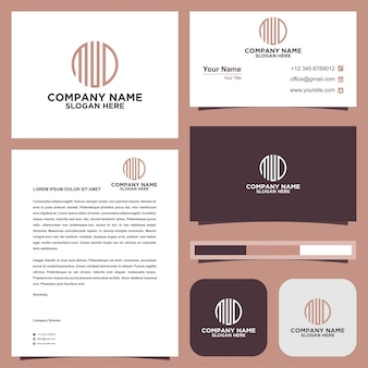 Circular letter dmd logo and business card