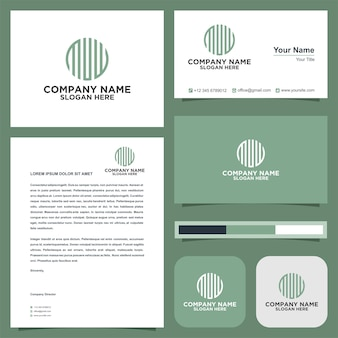 Circular letter dwd ogo and business card