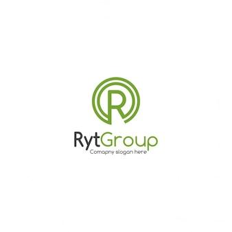 Circular letter r logo