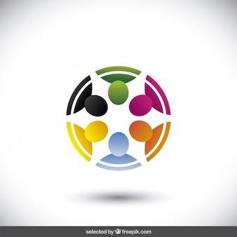Circolare logo realizzato con avatar in 3d