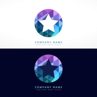 Circular logo with star