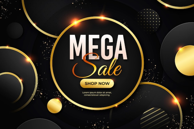 Circular luxury gold sale background