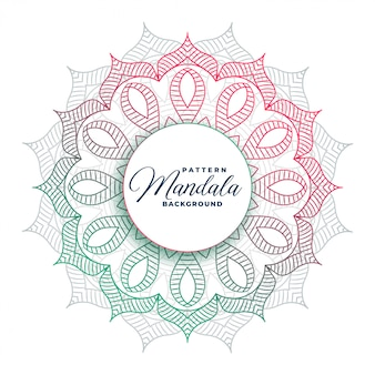 Circular mandala art colorful design