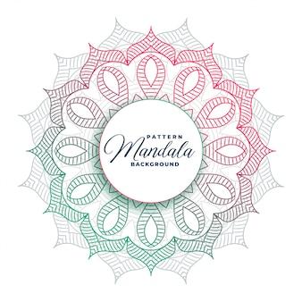 円形のマンダラアートのカラフルなデザイン