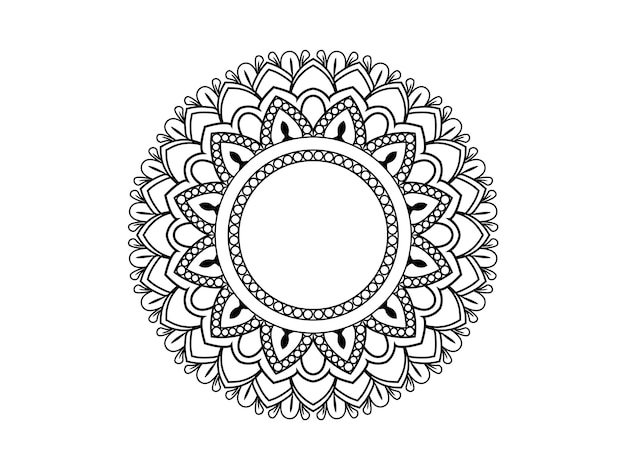 Circular mandala. decorative ornament in ethnic oriental style. coloring book page.