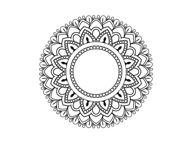 Круглая мандала. декоративный орнамент в этническом восточном стиле. страница книжки-раскраски.