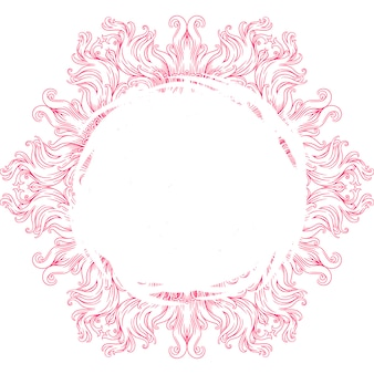 Circular mandala for henna, mehndi, tattoo, decoration. decorative ornament in ethnic oriental style